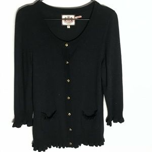 Juicy Couture black cashmere cardigan
